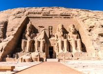 Velký chrám v Abú Simbelu v Egyptě