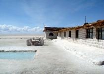 Solná pláň Salar de Uyuni v Bolívii