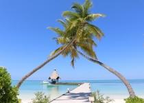 Maledivský ostrov Gan