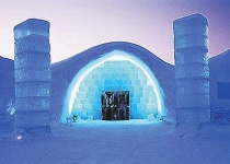 Ledový hotel ve Švédsku