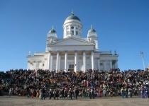Helsinky a jeho Tuomiokirkko a Uspenská katedrála