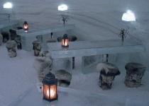 Hotelový luxus v ledovém hradě