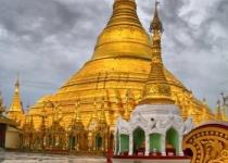 Zlatá pagoda v Myanmaru